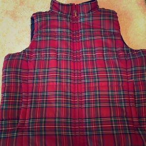 Chaps Plaid Puffer Vest